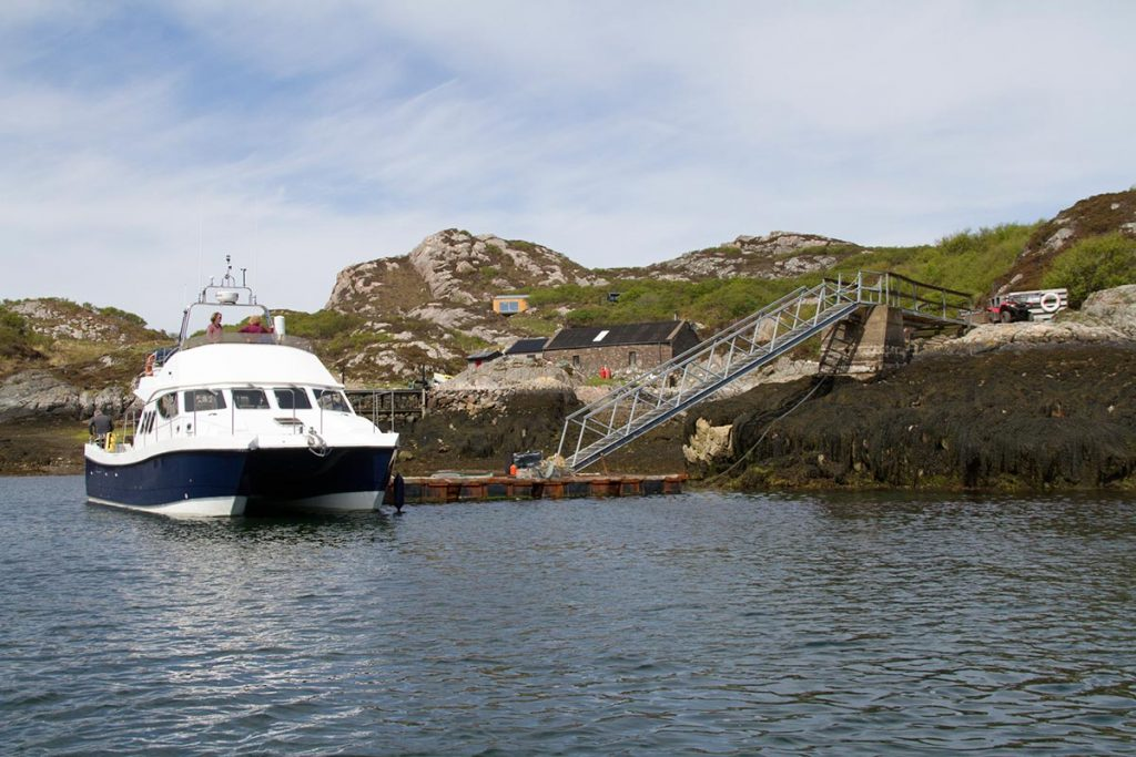 The MV Seaflower docked up at Rona